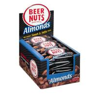 BEER NUTS Almonds - 24 ct. 1 oz Individual Bags-Crunchy, Sweet, Salty, Snack