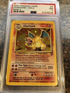 Pokemon BASE SET 2 Charizard 4/130 HOLO Trading Card-Near Mint PSA Graded 7