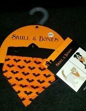 New Halloween Custom Skull & Bones For Cats And Dogs Polka Bat Bandana Xs-S