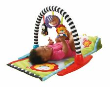 FISHER-PRICE Newborn Baby Zoo Animal Friends Musical Activity Gym Mat **NEW**