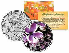 LILAC FLOWER JFK Kennedy Half Dollar US Colorized Coin