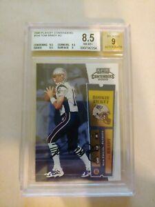2000 playoff contenders #144 Tom Brady Autograph Rookie Beckett 8.5