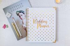 Wedding Planner Organizer, Gold - Diary, Journal, Engagement Gift - Usa Brides