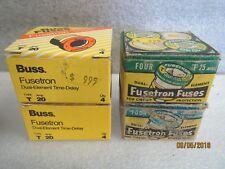 Bussmann-Fusetron-Vintage Fuses (2Boxes)Type-T-20-Amp&(2Boxes)T-15Amp-4 BOX LOT