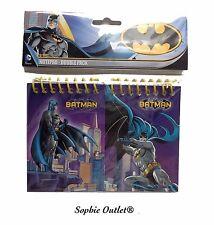 2x Bolsa Paquete De Notebook Kids BATMAN rellenos favores de partido cumpleaños regalo estacionario