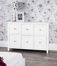 Brooklyn White Large Chest of Drawer Wide Dresser Assembled Metal Runners