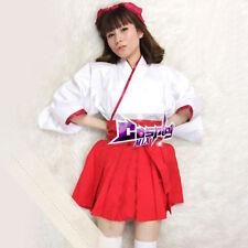 Kikyou Inuyasha Lolita Cosplay Verkleidung Kostüm Kleid Kimono Rock weiß rot