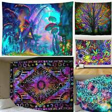 Psychedlic Mandala Tapestry Hippie Room Wall Hanging Art Home Decor Tapestries