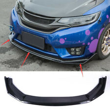 For 2015-2017 Honda FIT JAZZ Gloss Black ABS Front Bumper Lip Spoiler Cover 3pcs