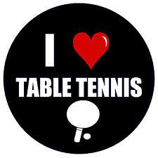 I LOVE TABLE TENNIS - FUN NOVELTY FRIDGE MAGNET - BRAND NEW - GIFT - XMAS