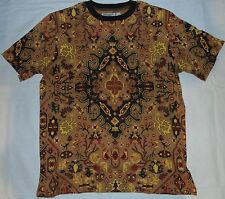 MOSS NEW YORK CLOTHING STAINED GLASS T-SHIRT BROWN SIZE XL, 2XL