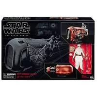 Hasbro Exclusive Star Wars  Black Series REY (JAKKU) with Land speeder mib NEW!