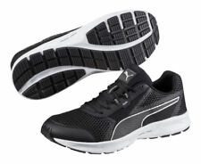 Men's Puma Essential Runner Black / Silver Running Shoes Trainers UK Size 6 - 13