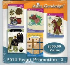 Anita Goodesign 2012 Event Promotion 2 Embroidery Machine Design CD