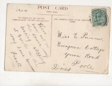 Miss E Primmer Evergreen Cottage Green Road Poole 1904 512b
