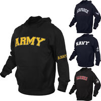 Pullover Sweatshirt Warm Comfortable US Marines Air Force Army Navy Hoodie