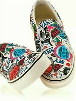 Vans Unisex Classic Slip On (Mash Up) Stickers Multicolor Fashion Sneakers Shoes