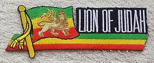 THE LION OF JUDAH PATCH Cloth Badge/Emblem Biker Jacket Rasta Haile Selassie I