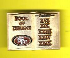 NFL SAN FRANCISCO 49ers BOOK of DREAMS HAT or LAPEL PIN !