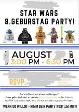 Star Wars Kinder Geburtstag Einladung