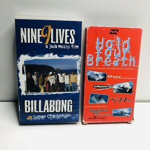 Billabong Super Challenge & Hold Your Breath Occy Surfing VHS Video Tapes