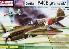 "AZ Model 1:72 Curtiss P-40E ""Warhawk"" Aircraft Model Kit"