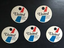 United Airlines Luggage Tag Vintage-United Logo Blank (5 Tags)