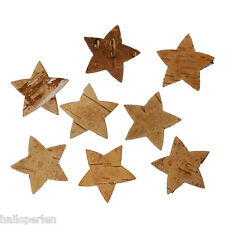 Birch Bark Decoration Christmas Stars Natural 39x37mm 20PCs