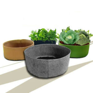 Round Fabric Root Pots Smart Plant Grow Bags 10/15/30/40/50/90/100/105 Gallon
