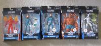 """Marvel Legends 6"""" Fantastic Four Complete Set Mr. Mrs. Torch Thing Silver Surfer"""