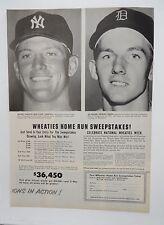 Original Print Ad 1956 WHEATIES Home Run Sweepstakes  Yankees