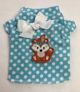 Aqua Dots Tribal Fox Knit Dog T-Shirt Clothes Size XXXS-Large
