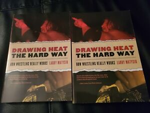 DRAWING HEAT THE HARD WAY - MATYSIK SIGNED - WWE/WWF/ECW - PRO WRESTLING BOOKS