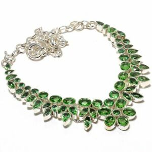 "Green Amethyst Gemstone 925 Sterling Silver Handmade Necklace 17.99"" S1944"