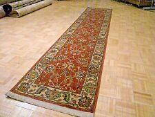 2.6x12 KARASTAN ASHARA RED AGRA - 549 - 15006 - 100%WOOL RUG - MINT CONDITION