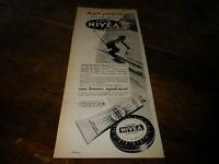 NIVEA - CREME SOLAIRE - Publicité de presse / Press advert !!! 1958 !!!