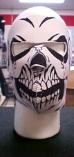 #78 Cold Weather Neoprene Full Face Mask-White Skull