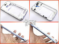 Samsung Galaxy Note II 2 N7100 White Metal Frame Border Cover Chassis