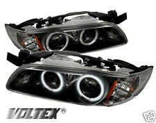 1997-2003 PONTIAC GRAND PRIX CCFL PROJECTOR HEADLIGHTS LIGHTBAR LIGHT BLACK