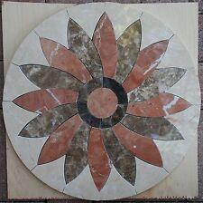"""28"""" Floor Marble Travertine Tile Medallion Design Stone 28 #37a"""
