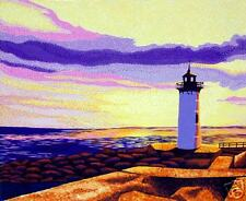 Portsmouth, New Hampshire, Lighthouse, Matted Print
