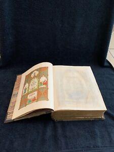 LARGE ANTIQUE THE HOLY CATHOLIC BIBLE