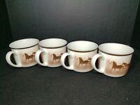 Lodge Stoneware Big Sky Wild Horses Cup/Mug(s)Thomas Norby Set of (4) Restaurant
