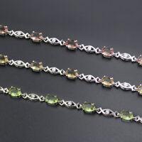"Women's color change nano diaspore 925 sterling silver teenis bracelets 8.25"""