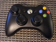 Official Genuine Microsoft Xbox 360 Wireless Controller Black ~ Cleaned & Tested