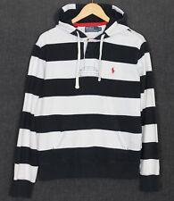 POLO by RALPH LAUREN Striped Cotton Blend Hoodie Sweatshirt Men Size M