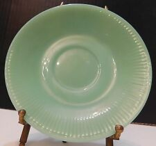 VINTAGE FIRE KING JANE RAY RIBBED SMALL GREEN JADEITE SAUCER PLATE