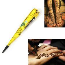 Fashion Herbal Temporary Tattoo Body Art Paint Kits Black Henna Cones Individual