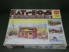 Gége : BATI-BOIS jeu de construction chalet western style Jeujura ancien vintage