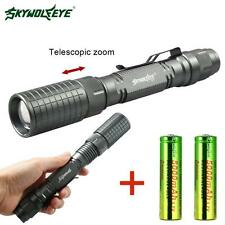 8000 Lumen  T6 LED torche tactique 5 Modes Camping Light+2x18650 batterie DC